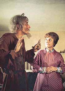 "Geoffrey Bayldon and Hilda Braid in ""The Trickery Lantern"""