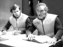 "John Leeson and Neil McCarthy (right) in the 1978 ""Doctor Who"" story ""The Power of Kroll"" - Photo (c) BBC"