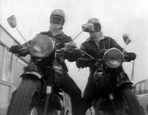 Bikers Harry (Terence Rigby) and Frank (Richard O'Callaghan).