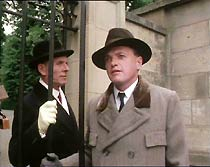 Jack Ford (James Bolam) and Sir Horatio Manners (Basil Henson) arrive at the Calderbeck mansion.