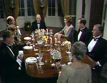 Dinner at the Calderbeck mansion, with guests Jack Ford and Sir Horatio Manners.