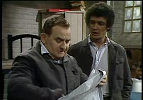Fletcher (Ronnie Barker) and McLaren (Tony Osoba)