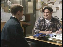 Nicholas Lyndhurst as Gary, and Victor McGuire as Ron Wheatcroft