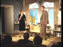 On stage: Michelle Holmes as Yvonne Sparrow, and Nicholas Lyndhurst as her husband, Gary