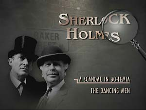 Example menu screen, showing Jeremy Brett and...err...Edward Hardwicke, who isn't actually in these episodes...