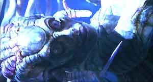 Sil - alien designed by H.R.Giger, made by Steve Johnson's effects unti