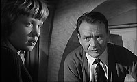 Hayley Mills as Gillie and her father, John Mills, as Superintendent Graham.