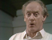 "The incomparable Graham Crowden, as a cricket-playing Vicar in the final episode of ""Two in Clover""."