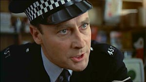 Edward Woodward, as the redoubtable Sergeant Howie.