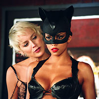 Catfight: Laurel Hedare (Sharon Stone) and Catwoman (Halle Berry).