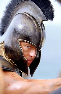 Brad Pitt as Achilles.