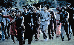 Zombies on the move in Romero's Day of the Dead