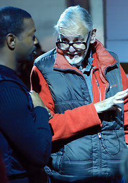 George A. Romero, on the set of Diary of the Dead